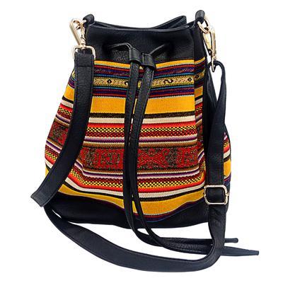Inka-Products-Sac Seau en Bandoulière pour Femme-Tissu Traditionnel Péruvien UROS