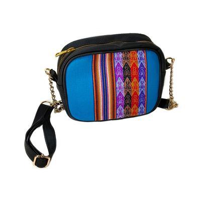 Inka-Products-Sac en Bandoulière Femme LOLITA-Toile Péruvienne Motifs Ethniques