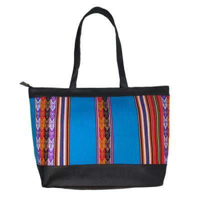 Inka-Products-Sac à Main Cabas Ethnique XL-Tissu Péruvien