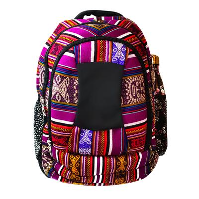 Inka-Products-Sac à dos Aventura-Tissu Traditionnel Péruvien Vitelotte