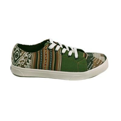 Inka-Products-Sneakers Baskets Basses-MONTAGNE SACRÉE INCA Tissu Péruvien Motif Ethniques Homme-Femme