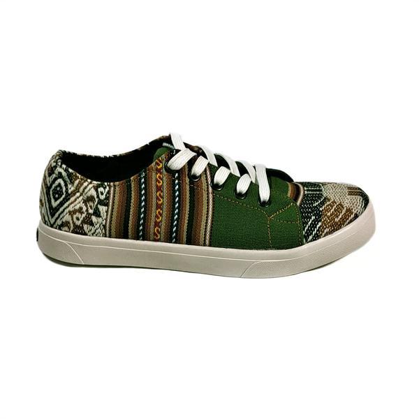 Sneakers Baskets Basses MONTAGNE SACRÉE INCA Tissu Péruvien Motif Ethniques Homme-Femme - Inka Products