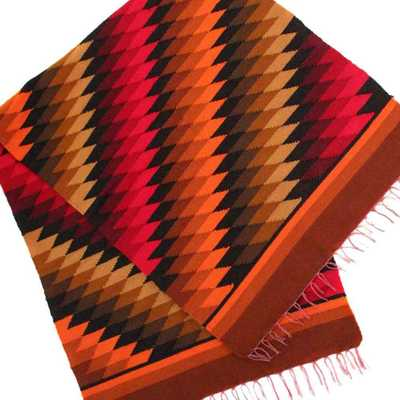 Inka-Products-Tapis Empire Inca-Rouge Motifs Ethniques